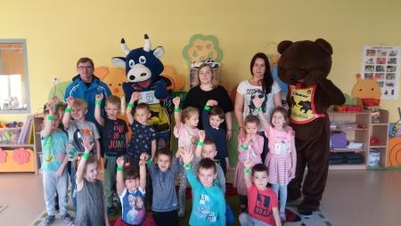 Byk i Niedźwiedź odwiedziły przedszkolaków!